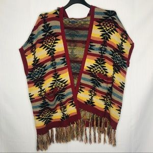 American Eagle Outfitters Aztec print poncho